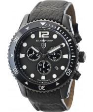 Elliot Brown 929-001-L01 Mens bloxworth svart läderrem chronographklockan