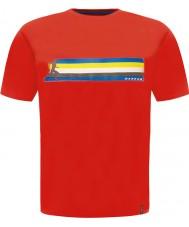 Dare2b DMT322-65770-L Mens bands eldröd t-shirt - storlek L