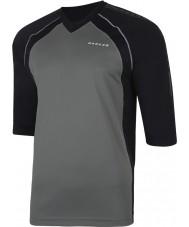 Dare2b DMT300-44Q50-S Mens ringt in rökig svart jersey t-shirt - storlek s