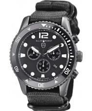 Elliot Brown 929-001-N02 Mens bloxworth svart tyg rem chronographklockan