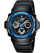 Casio AW-591-2AER Mens g-shock svart kronograf sportklocka