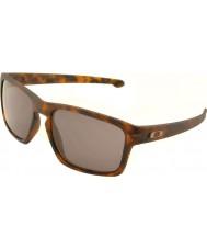 Oakley Oo9262-03 flisa matt brun sköldpaddsskal - varm grå solglasögon