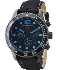 Elliot Brown 929-006-C02 Mens bloxworth svart tyg rem chronographklockan