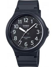 Casio MW-240-1BVEF Mens kärna dimensionerad svart harts rem klocka