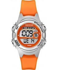 Timex TW5K96800 Damer marathon mitten av storlek apelsin hartskronograf rem klocka