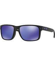 Oakley Oo9102-26 Holbrook Julian Wilson matt svart - violett iridium solglasögon