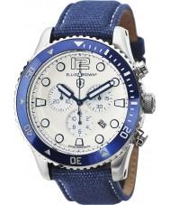 Elliot Brown 929-008-C01 Mens bloxworth blått tyg rem chronographklockan