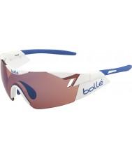 Bolle 6th Sense glänsande vita ros blå solglasögon