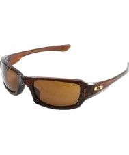 Oakley Oo9238-07 femmor squared polerad rootbeer - mörka brons solglasögon