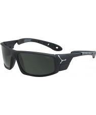 Cebe Is 8000 matt svart grå solglasögon