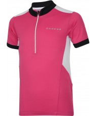 Dare2b DKT018-1Z0034 Barn hotfoot elektrisk rosa jersey t-shirt - 34 inches