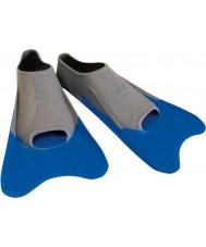 Zoggs 300395 Ultra blå och grå tränings fenor - uk storlek 12