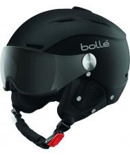 Bolle 31253 Back visir mjuk svart och silver skidhjälm med grå visir - 59-61cm