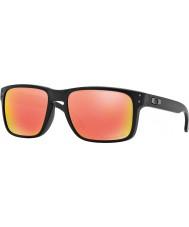 Oakley Oo9102-51 holbrook mattsvart - ruby iridium polariserade solglasögon
