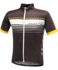 Dare2b DMT133-80040-XS Mens duglighet svart jersey t-shirt - storlek XS