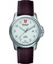 Swiss Military 6-4231-04-001 Mens schweizisk soldat prime brunt läder Strap Watch