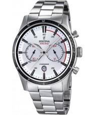Festina F16818-1 Mens rundtur i Storbritannien 2015 alla silver chronographklockan