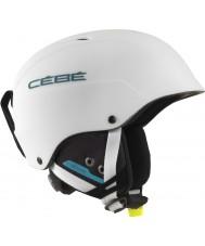 Cebe CBH174 Contest matt vit blå skidhjälm - 62-64cm