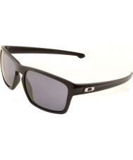 Oakley Oo9262-01 flisa mattsvart - grå solglasögon