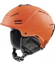 Uvex 5661538003 P1us mörkorange matta skidhjälm - 52-55cm