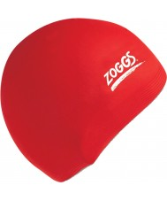 Zoggs 300604-RED Röd silikonhättan
