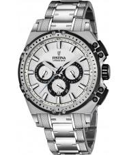 Festina F16968-1 Mens Chrono cykel silver stål chronographklockan