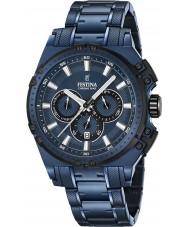 Festina F16973-1 Mens Chrono cykel blå stål chronographklockan