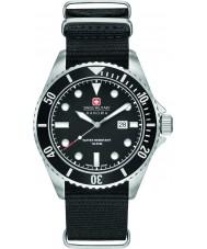 Swiss Military 6-4279-04-007-07 Man sjölejon svart nylonband klocka