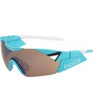 Bolle 6. Känsla s skinande blå modulator rose gun solglasögon