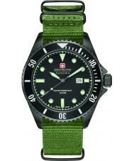 Swiss Military 6-4279-13-007 Man sjölejon grön nylonband watch