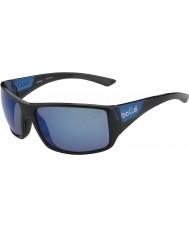 Bolle Tigerorm glänsande svart matt blå polarise offshore blå solglasögon