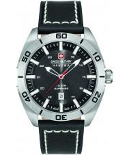 Swiss Military 6-4282-04-007 Mens champ svart läderrem klocka