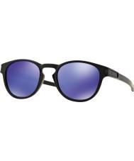 Oakley Oo9265-06 spärr matt svart - violett iridium solglasögon
