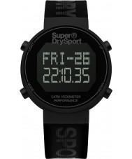 Superdry SYG203BB Mens digi stegräknare svart silikon rem klocka