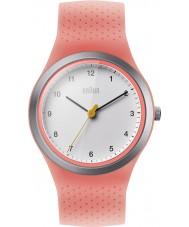 Braun BN0111WHPKL Damer sport neon persika silikon band watch