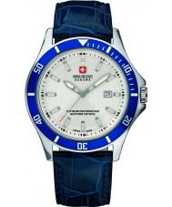 Swiss Military 6-4161-2-04-001-03 Mens flaggskepp blå läderrem klocka