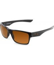 Oakley Oo9189-03 Two-Face polerad svart - mörka brons solglasögon