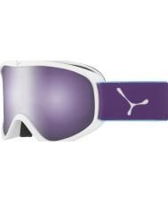 Cebe CBG60 Striker m vit och violett - mörka rosen flash spegel skidglasögon