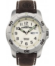 Timex T46681 Mens vit brun expedition traditionell klocka