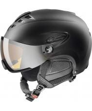 Uvex 5661622205 Hlmt 300 svart skidhjälm med lasergold visir - 55-58cm
