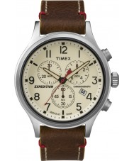 Timex TW4B04300 Mens expedition scout brunt läder chronographklockan
