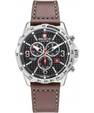 Swiss Military 6-4251-04-007 Mens ess chrono brunt läder Strap Watch