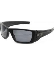 Oakley Oo9096-05 bränslecells mattsvart - grå polariserade solglasögon
