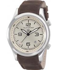 Elliot Brown 202-003-L08 Mens Canford chokladbrun läderband watch
