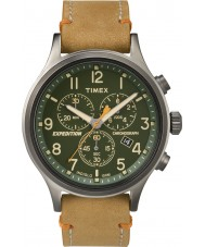 Timex TW4B04400 Mens expedition scout tan läder chronographklockan