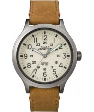 Timex TW4B06500 Mens expedition scout tan läderrem watch