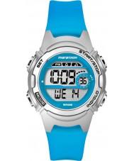 Timex TW5K96900 Damer marathon mitten av storlek blå hartsband chronographklockan