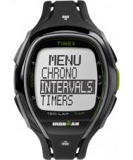 Timex TW5K96400 Ironman 150 varv full storlek elegant svart harts rem chronographklockan